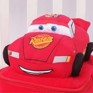 NEW Cute Soft plush Robocar Poli Bag Backpack - CARS MCQUEEN