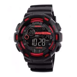 Red SKMEI 1243 50 M Waterproof Men's Digital Outdoor Sports Watch