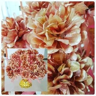 Bunga Pahar Rose Gold
