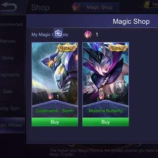 """Mobile legened """"legendary skin for sales"""""""