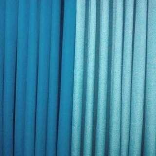 Oceanic blue curtain