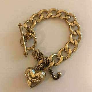 Juicy Couture gold plated bracelet