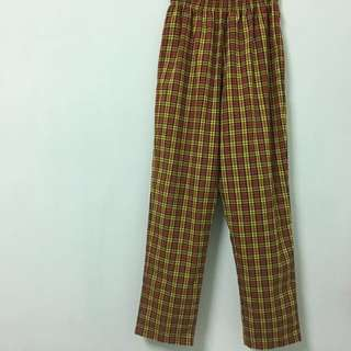 Vintage復古格紋長褲(看圖二.圖四)