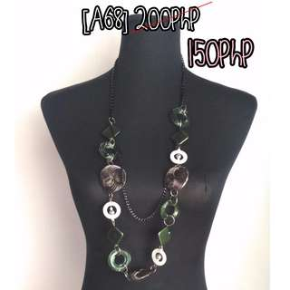 olive green layered necklace