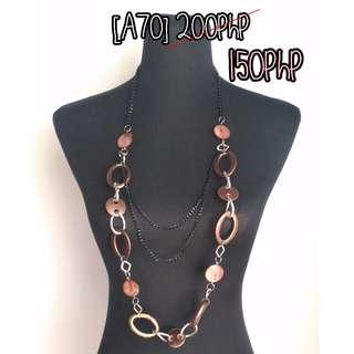 dark brown layered necklace