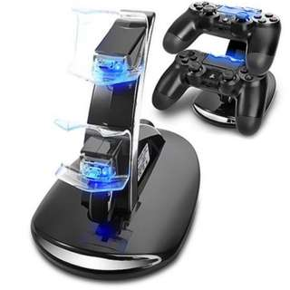 Sony PlayStation 4 PS4 Dual Controllers Charger Charging Dock Stand