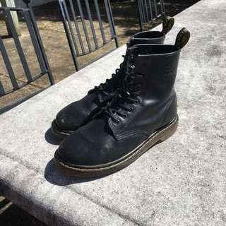 Black Matte Doc Martens Size 10