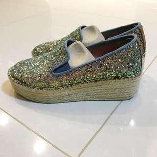 Glittery Espadrille wedge size 38