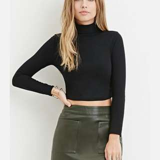 BNWOT F21 Black Turtleneck