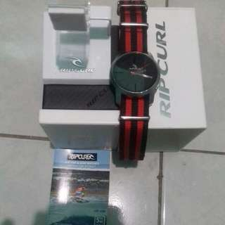 Ripcurl Watch Cambridge Nylone Red Black