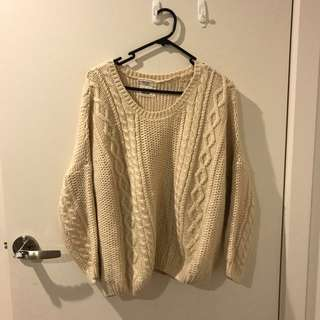 Korean oversized creamy sweater
