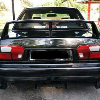 spoiler wira 1.8 layang with led brake