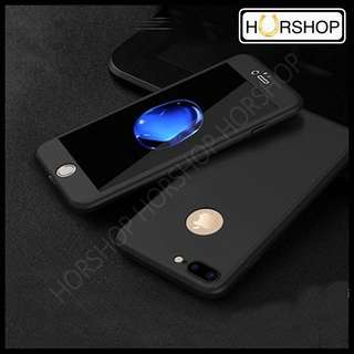 iPhone 7+ 7 Plus Full Cover Fullcover Case Casing With tempered Glass