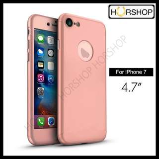 iPhone 7 Fullcover Full Cover Case With Tempered Glass