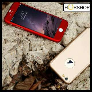 iPhone 5 5s SE Full Cover 360 Hard case With Tempered Glass