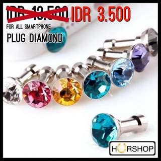 Plug Anti Dust Diamond For Iphone Samsung lg Xiaomi Sony