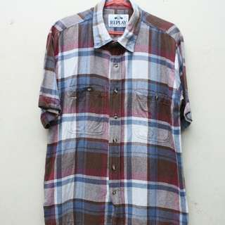 Flanel Short REPLAY made in ITALY