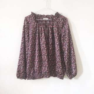 Earth floral blouse