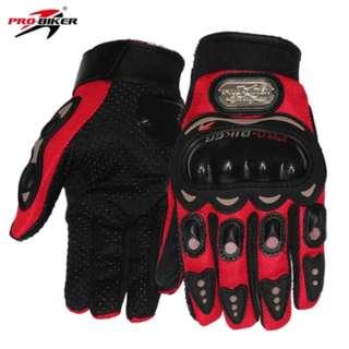 Red PRO-BIKER MCS01C Unisex Full Finger Motorcycle Gloves