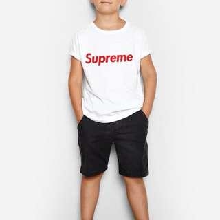 Supreme white customized kids tshirt