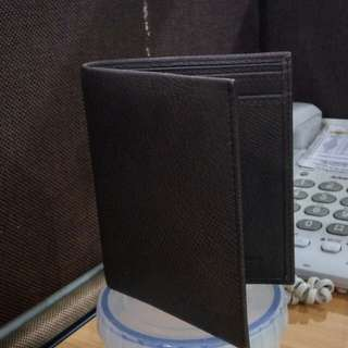 Brown wallet leather