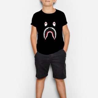 Bape black customized tshirt