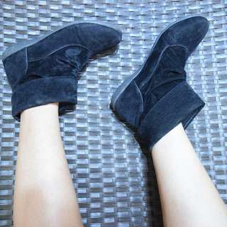 S&H Suede Ankle Boots (Black)