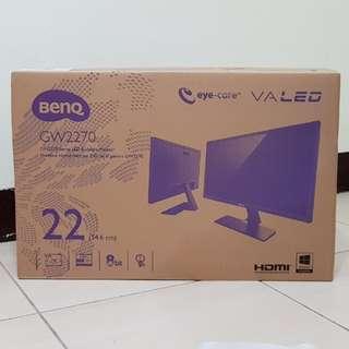 【全新】BenQ GW2270H 22吋VA廣視角低藍光不閃屏液晶螢幕