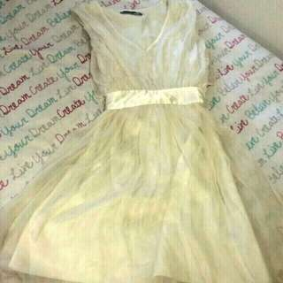 Cream Nique Dress