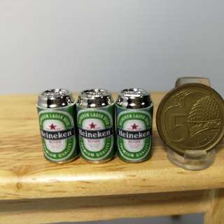 Dollhouse miniature : 3pcs of can beer