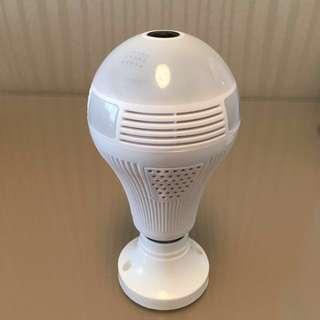 全景LED燈泡攝像鏡頭960p高清適合家居辦公室店舖倉庫