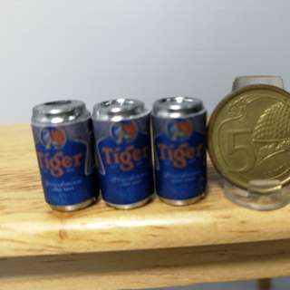 Dollhouse Miniature : 3pcs of beer in can