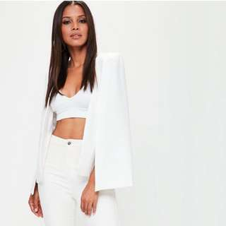 Missguided shoulder cape blazer