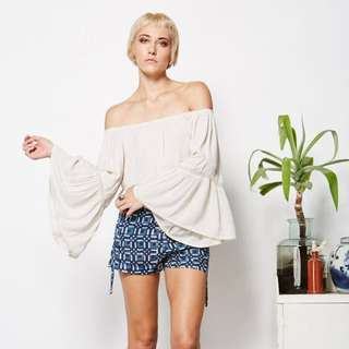 Tree Of Life Off Shoulder Blouse