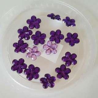 Mini Flower Charms (for Slime)