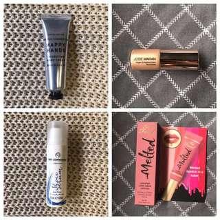Various Brands - Mecca Cosmetica, Josie Maran, Limecrime, Maybelline, De Lorenzo + more