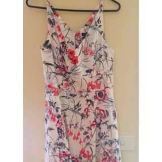 Portmans sz 10 V floral neck dress