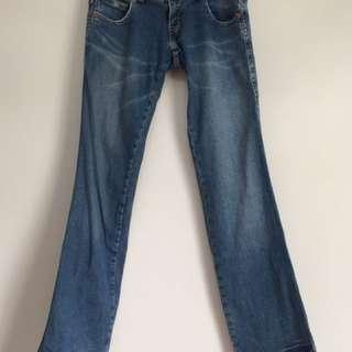 二手 Levi's 復古 直筒 寬長褲 中低腰 微刷白 長褲 單寧褲牛仔褲