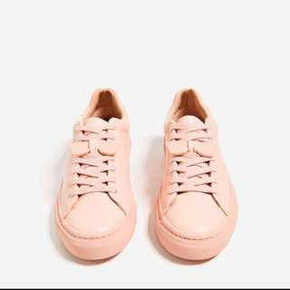 Zara Plimsolls With Sunglasses Detail