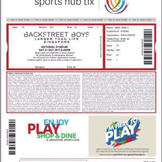 Backstreet boys live Cat 3 tickets