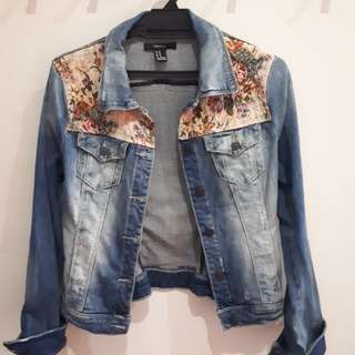Forever 21 Denim Jacket with Embroidery