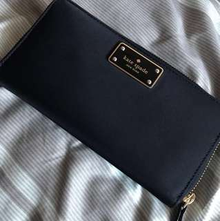 Authentic black kate spade wallet
