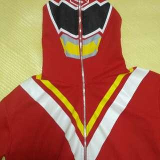🚚 #萬聖節必備# 超人 假面騎士 戰隊 紅 外套 XL 連帽 外套