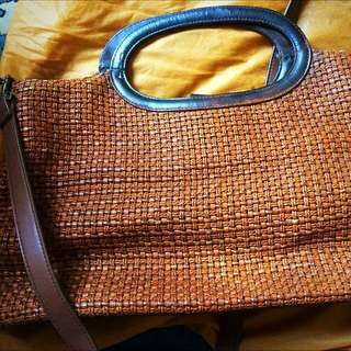 Authentic FOSSIL Woven Bag