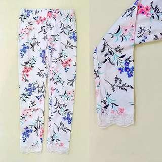 CARTERS Floral Lace Leggings (Size 4)