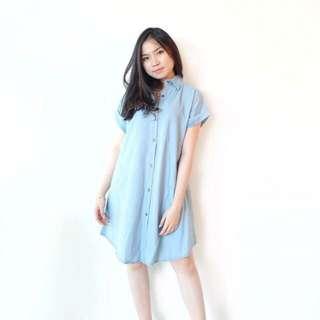 Plain Denim Dress