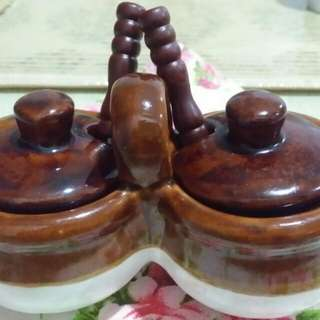 Vintage Ceramic Salt & Sugar