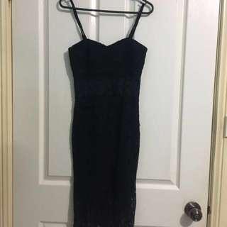 PASSIONFRUIT BLACK LACE DRESS