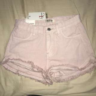 Pink Ripped Shorts