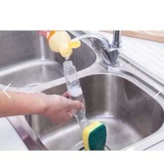 加長手柄多功能加清潔液清潔刷